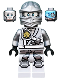 Minifig No: njo251  Name: Zane - Titanium Ninja Light Bluish Gray, Scabbard