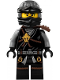 Minifig No: njo256  Name: Cole - Dark Bluish Gray Wrap