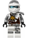 Minifig No: njo260  Name: Zane - Flat Silver and White Wrap