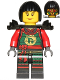 Minifig No: njo271  Name: Samurai X (Nya) - Possession, Black Bob Cut Hair