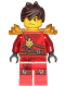Minifig No: njo305  Name: Kai - Pearl Gold Armor, Tousled Hair