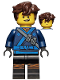 Minifig No: njo314  Name: Jay - Hair, The LEGO Ninjago Movie (70617)