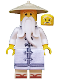 Minifig No: njo315  Name: Sensei Wu - The LEGO Ninjago Movie, White Robe, Zori Sandals