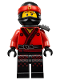 Minifig No: njo316  Name: Kai - Pearl Dark Gray Katana Holder, The LEGO Ninjago Movie