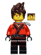 Minifig No: njo317  Name: Kai - Hair, Flat Silver Katana Holder, The LEGO Ninjago Movie (70617)
