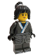 Minifig No: njo321a  Name: Nya - The LEGO Ninjago Movie, Cloth Armor Skirt, Hair, Crooked Smile / Open Mouth Smile