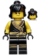 Minifig No: njo323  Name: Cole - Hair, The LEGO Ninjago Movie, Arms with Cuffs, Hair (70617)