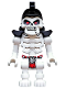 Minifig No: njo504  Name: Skeleton Warrior with Samurai Helmet, Red Loincloth (Legacy)