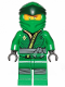 Minifig No: njo514  Name: Lloyd (Legacy) - Black Dots, Lime and Gold Trim Tunic