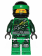 Minifig No: njo516  Name: Lloyd - Hunted, Green Wrap (without Asian Symbol on Wrap)