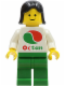 Minifig No: oct002  Name: Octan - White Logo, Green Legs, Black Female Hair