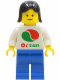 Minifig No: oct010  Name: Octan - White Logo, Blue Legs, Black Female Hair