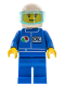 Minifig No: oct021  Name: Octan - Blue Oil, Blue Legs, White Helmet, Trans-Light Blue Visor