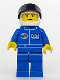 Minifig No: oct022  Name: Octan - Blue Oil, Blue Legs, White Helmet, Black Visor