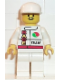 Minifig No: oct025  Name: Octan - Race Team, White Legs, White Cap
