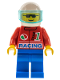 Minifig No: oct028  Name: Octan - Racing, Blue Legs, White Helmet, Trans-Light Blue Visor