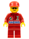 Minifig No: oct034  Name: Octan - Racing, Red Legs, Red Cap