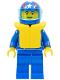 Minifig No: oct037a  Name: Octan - Blue Oil, Blue Legs, Life Jacket, Blue Helmet 4 Stars & Stripes, Trans-Light Blue Visor