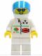 Minifig No: oct038  Name: Octan - Stars, White Legs, White Helmet, Trans-Dark Blue Visor