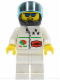 Minifig No: oct041  Name: Octan - Stars, White Legs, Black Helmet, Trans-Light Blue Visor