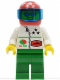 Minifig No: oct042  Name: Octan - Stars, Green Legs, Red Helmet 7 White Stars, Trans-Dark Blue Visor