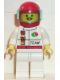 Minifig No: oct043  Name: Octan - Race Team, White Legs, Red Helmet, Trans-Light Blue Visor