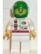 Minifig No: oct044  Name: Octan - Race Team, White Legs, Green Helmet, Trans-Light Blue Visor