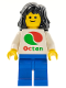 Minifig No: oct048  Name: Octan - White Logo, Blue Legs, Black Mid-Length Female Hair