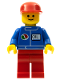 Minifig No: oct050  Name: Octan - Blue Oil, Red Legs, Red Cap