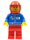 Minifig No: oct051  Name: Octan - Blue Oil, Red Legs, Red Helmet, Trans-Black Visor