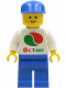 Minifig No: oct052  Name: Octan - White Logo, Blue Legs, Blue Cap