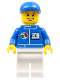 Minifig No: oct054  Name: Octan - Blue Oil, White Legs, Blue Short Bill Cap