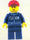 Minifig No: oct055  Name: Octan - Blue Oil, Blue Legs, Red Short Bill Cap