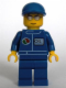 Minifig No: oct068  Name: Octan - Blue Oil, Blue Legs, Blue Short Bill Cap, Silver Sunglasses