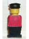 Minifig No: old004  Name: Legoland Old Type - Red Torso, Black Legs, Black Hat