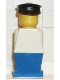 Minifig No: old005  Name: Legoland Old Type - White Torso, Blue Legs, Black Hat