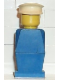 Minifig No: old008  Name: Legoland Old Type - Blue Torso, Blue Legs, White Hat