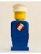 Minifig No: old008s  Name: Legoland Old Type - Blue Torso, Blue Legs, White Hat, Life Preserver Sticker