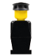 Minifig No: old011  Name: Legoland Old Type - Black Torso, Black Legs, Black Hat