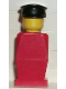 Minifig No: old012  Name: Legoland Old Type - Red Torso, Red Legs, Black Hat