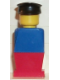 Minifig No: old013  Name: Legoland Old Type - Blue Torso, Red Legs, Black Hat
