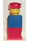 Minifig No: old015  Name: Legoland Old Type - Blue Torso, Red Legs, Red Hat
