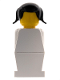 Minifig No: old021  Name: Legoland Old Type - White Torso, White Legs, Black Pigtails Hair