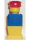 Minifig No: old023  Name: Legoland Old Type - Blue Torso, Yellow Legs, Red Hat