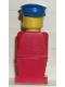 Minifig No: old031  Name: Legoland Old Type - Red Torso, Red Legs, Blue Hat