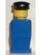 Minifig No: old035  Name: Legoland Old Type - Blue Torso, Blue Legs, Black Hat