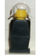 Minifig No: old037  Name: Legoland Old Type - Black Torso, Black Legs, White Pigtails Hair