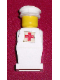 Minifig No: old047s  Name: Legoland Old Type - White Torso, White Legs, White Hat, Red Cross Sticker