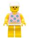Minifig No: par005  Name: Blue Flowers - Yellow Legs, White Cap