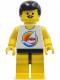 Minifig No: par029  Name: Surfboard on Ocean - Yellow Legs, Black Male Hair, Moustache